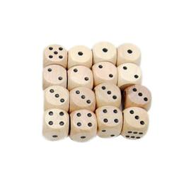 10pcs Dice Durable Six Sides Wooden Dice Yard Dices for Teac