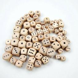 10pcs Dice Six Sides Yard Dices Wooden Dice Sieve for Games