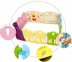 12 Panel Baby Playpen Non-Toxic Centre Safety Play Yard For