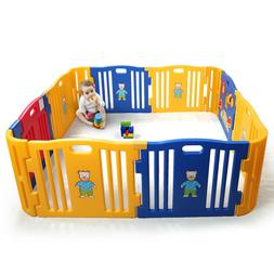 12 Portable Toddler Playpen Baby Outdoor Indoor Safety Foldi
