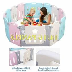 14/16 Pen Baby Safety Play Yards Kids Foldable Playpen Activ