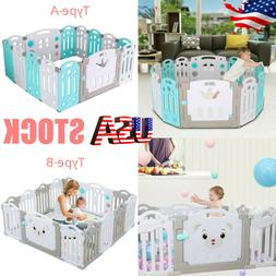 14 panel baby playpen kids safety fence