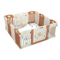 14 Panel Baby Playpen Kids Safety Fence Play Center Play Yar
