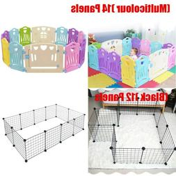 14 Panel Baby Safety Play Yards Kids Folding Playpen Activit