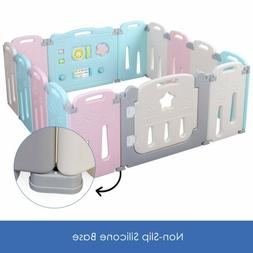 16 Panel Baby Playpen Kids Activity Center Safety Play Yard