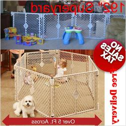 "192"" Extra super wide huge Baby Pet playpen Gate Play Yard p"