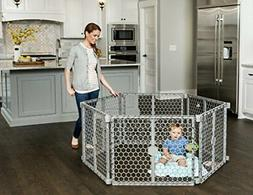 Regalo 192-Inch Plastic Super Wide Adjustable Baby Gate and