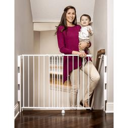 Regalo 2-In-1 Stairway and Hallway Baby Gate, Includes Banis