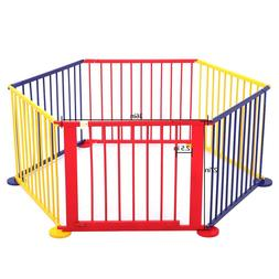 "27""H 6 Panel Baby Playpen Portable Play Safety Yard Home T"