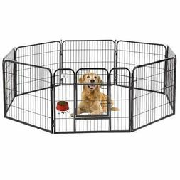 "BestPet 32"" 8 Panel Folding Metal Dog Exercise Fence Heavy D"