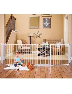 Regalo 4 in1 ,192-inc Super Wide Baby Gate&PlayYard White St