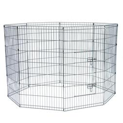 """42"""" Tall Wire Fence Pet Dog Cat Folding Exercise Play Yard 8"""