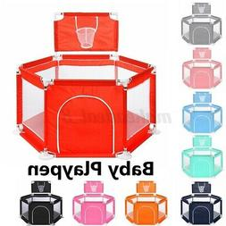 6 Color 3 Type Portable Baby Playpen Kids Play Yard Safety F