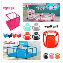 Baby Playpen 4/6 Panel Toddler Foldable Safety Play Center Y