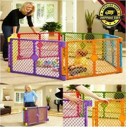 6 Panel Baby Play Yard Playpen Pet Fence Gate Indoor Play Ar