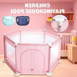 6 Side Baby Kids Toddler Safety Playpen Play Center House Ya