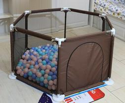 6 Sided Baby Playpen-Baby Play Fence-Come With 30pcs Ocean B