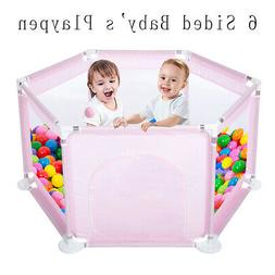 6 Sided Baby's Playpen Play Yards - Portable Kids Playpen In