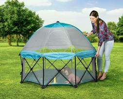 Regalo 8 Panel Foldable and Portable Play Yard with Carrying
