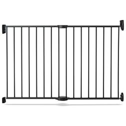 "Push to Close Hardware Baby Gate, Extends 28.5"" to 45"" Wide,"