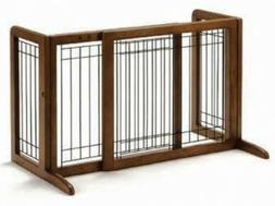 Richell 94135 Freestanding Pet Gate with Autumn Matte Finish