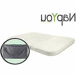 NapYou Amazon Exclusive Pack n Play Mattress, Convenient Fol