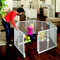 Baby and Toddler Plastic Play Yard Playpen Big Gate Dog Pet
