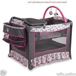 Disney Baby Bassinet Convertible Safety Minnie Mouse Newborn