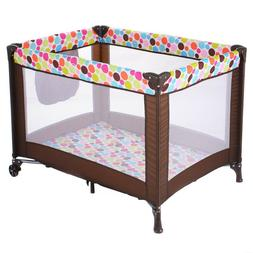 Baby Bassinet Travel Portable Bed Playpen Spacious Play Yard