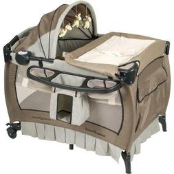 Baby Center Baby Crib Playpen Pack Bed Foldable Trend Deluxe