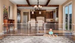 Baby Gate Child Safety Fence Kit Stairs Doorway Gates Extra