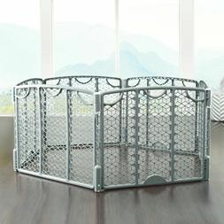 Baby Gate Play Yard Outdoor Indoor Portable Large Freestandi