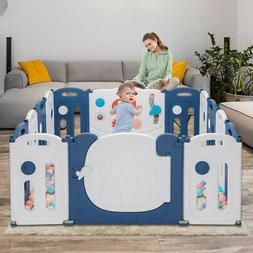 Baby Playpen 14 Panels Kids Safety Fence Children Play Yards
