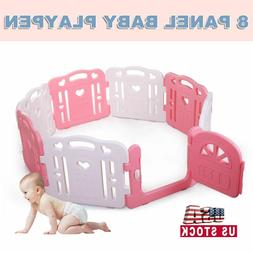 Baby Playpen Baby Play Yards Fence 8 Panel Activity Center S