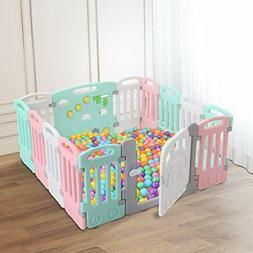 Baby Playpen Kids 14 Panels Safety Play Yard Activity Center