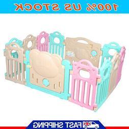 Baby Playpen Kids Activity Center 12 Panel Safety Play Yard