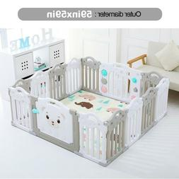 Baby Playpen Kids 14Panel Safety Play Center Yard Home Indoo