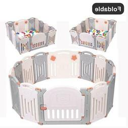 14 Panel Foldable Baby Playpen Kids Panel Safety Child Play