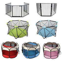 Foldable Baby Playpen Toddler Kids Safety Fence Play Center