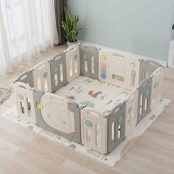 Baby Playpen Play Yards Fence 14 Panel Activity Center Safet