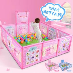 Baby Playpen Safety Play Yard Kids Activity Center Toddler I