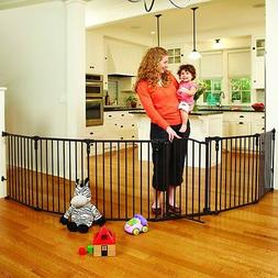 Baby Safety Gate Play Yard Fence Metal 6 Panels Dog Pet Gate