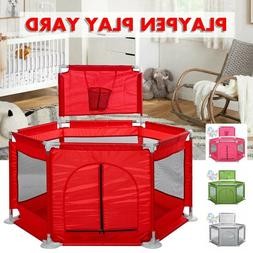 Baby Safety Play Yard Kid Activity Center Toddler Folding Ou