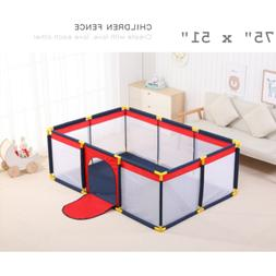 baby safety play yard toddler foldable indoor
