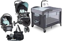 Baby Stroller with Car Seat Deluxe Play Yard Bag Set Newborn