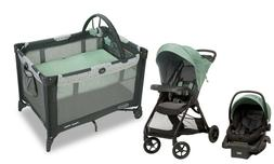 Baby Stroller with Car Seat Travel System Playard Crib Combo