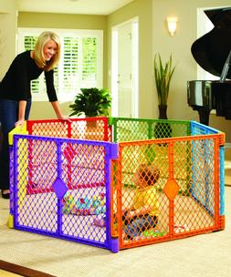 Big 6 Panel Wide Play Yard Playpen Baby Child Pet Dog Gate L
