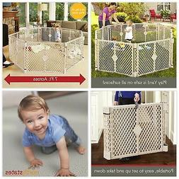 Big 8 Panel Wide Super Playpen Play Yard Baby Pet Dog Enclos