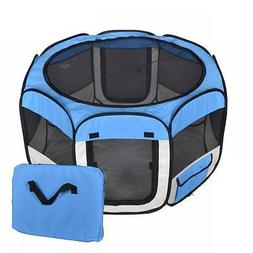 New Small Blue Pet Dog Cat Tent Playpen Exercise Play Pen So
