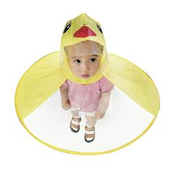 Boys Girls Magical Hands Free Raincoat, Children's Head Umbr